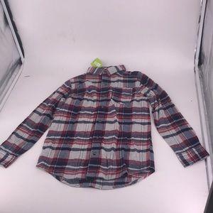 NWT Crazy 8 Boys Size 7-8 Plaid Long Sleeved Shirt